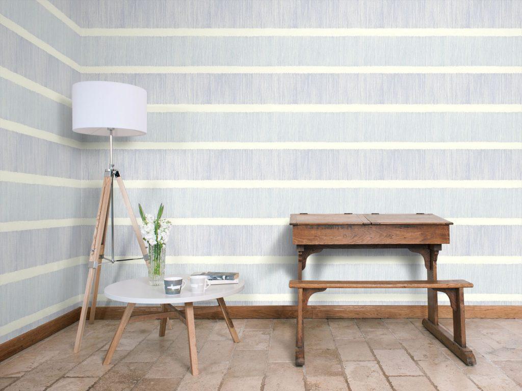 tatami stripe indigo blue sanderson