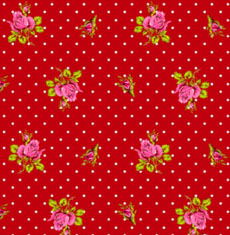 Roses and Dots Rood