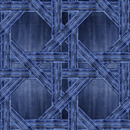 Denim trellis