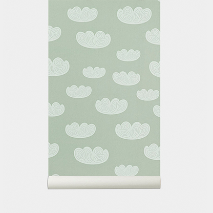 CLOUD WALLPAPER-MINT